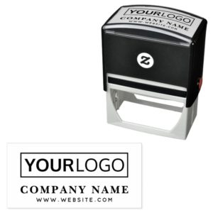 Custom logo website url text rubber stamp template