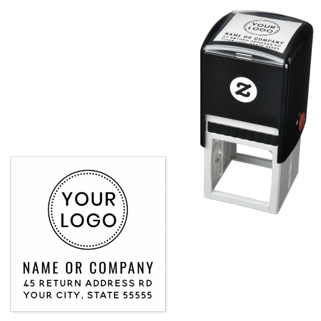 Return Address Stamp With Customizable