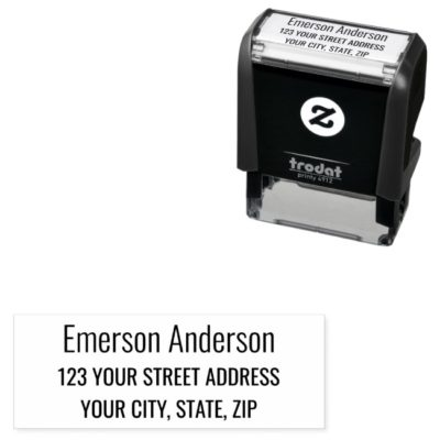 Small business supplies self inking return address stamp